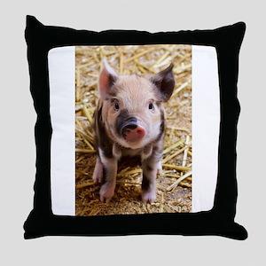 This Little Piggy Throw Pillow