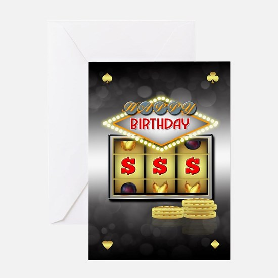 Birthday Greeting Card Casino Theme With Slots And