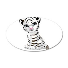 Baby White Tiger Wall Decal