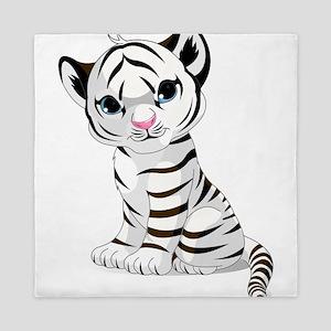 Baby White Tiger Queen Duvet