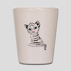 Baby White Tiger Shot Glass
