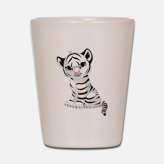 Baby White Tiger Shot Glass