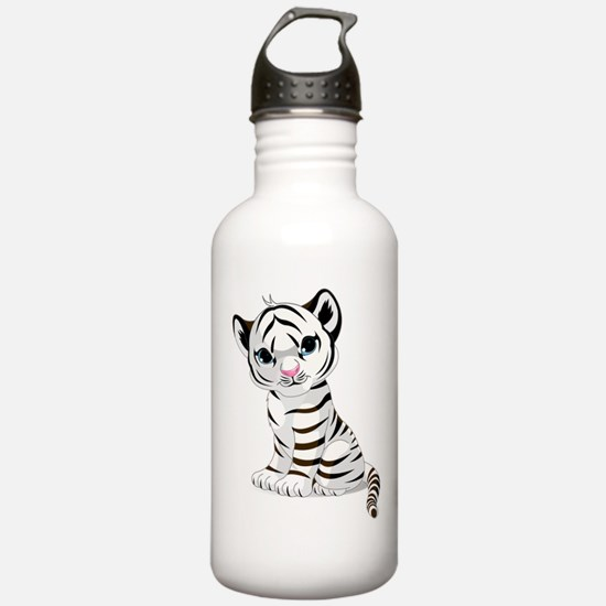 Baby White Tiger Water Bottle