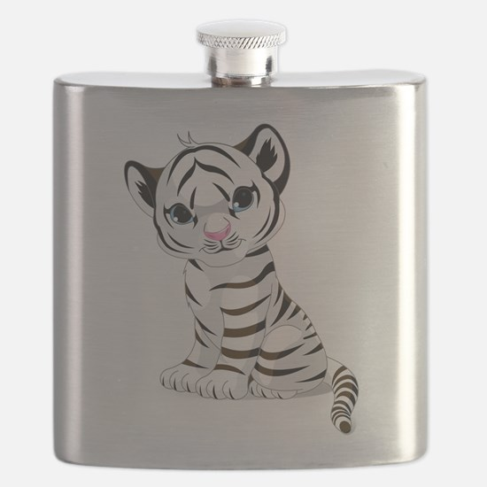 Baby White Tiger Flask