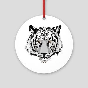 White Tiger Face Ornament (Round)