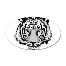 White Tiger Face Wall Decal