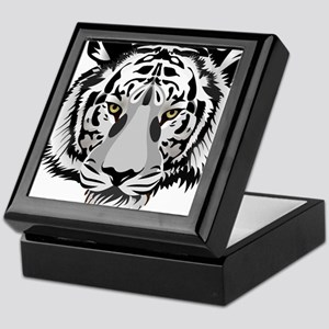 White Tiger Face Keepsake Box