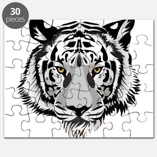 White Tiger Face Puzzle