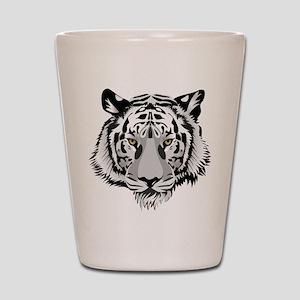 White Tiger Face Shot Glass