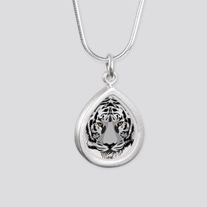 White Tiger Face Necklaces