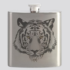 White Tiger Face Flask