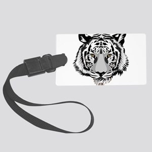 White Tiger Face Luggage Tag