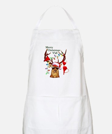 Smoking Redneck Christmas BBQ Apron