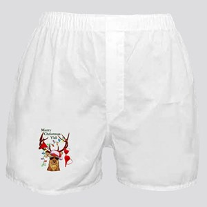 Smoking Redneck Christmas Boxer Shorts