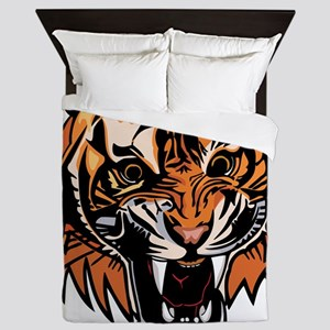 Angry Tiger Queen Duvet