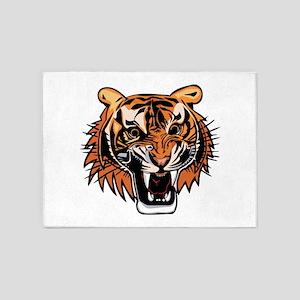 Angry Tiger 5'x7'Area Rug