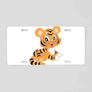 Cute Cartoon Baby Tiger Aluminum License Plate