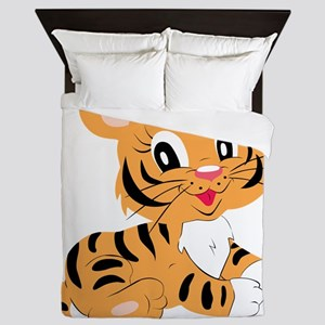 Cute Cartoon Baby Tiger Queen Duvet