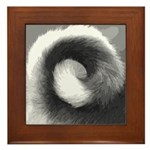 Basenji Tail Framed Tile
