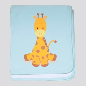 Baby Cartoon Giraffe baby blanket