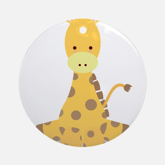 Baby Cartoon Giraffe Ornament (Round)