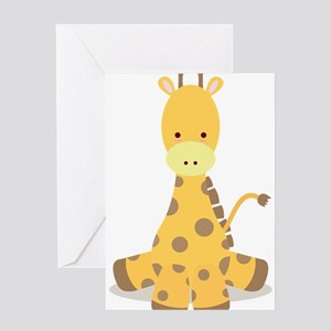 Baby Cartoon Giraffe Greeting Card