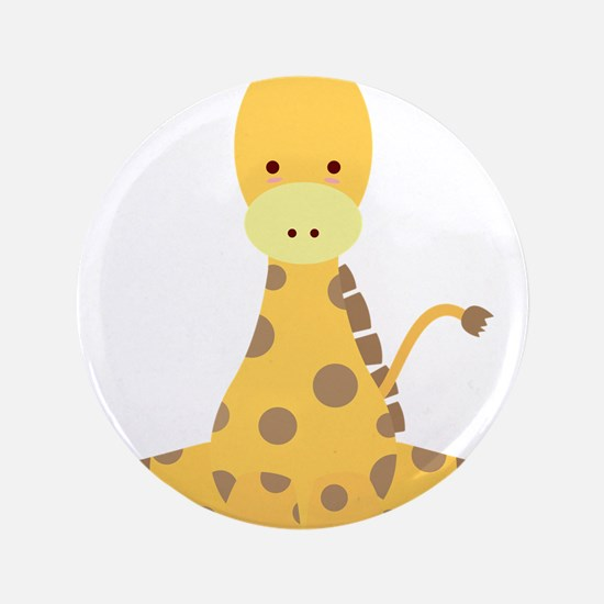 "Baby Cartoon Giraffe 3.5"" Button"