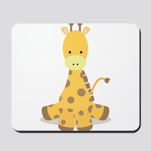 Baby Cartoon Giraffe Mousepad