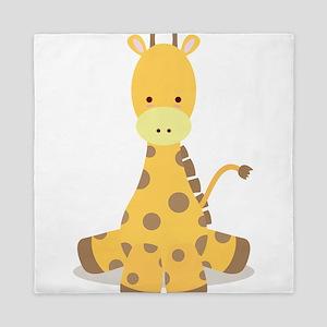 Baby Cartoon Giraffe Queen Duvet