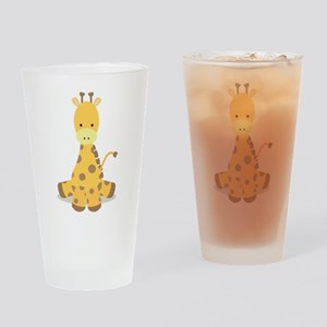 Baby Cartoon Giraffe Drinking Glass