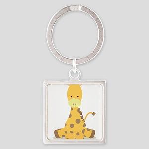 Baby Cartoon Giraffe Keychains