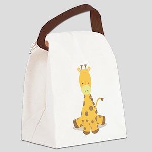 Baby Cartoon Giraffe Canvas Lunch Bag
