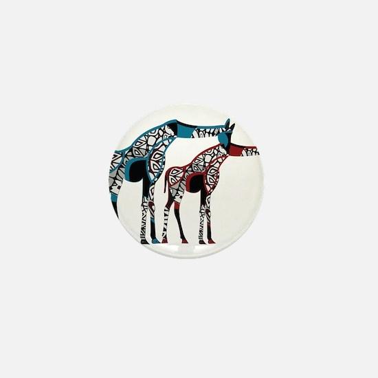 Abstract Giraffe Mini Button