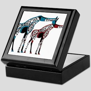 Abstract Giraffe Keepsake Box
