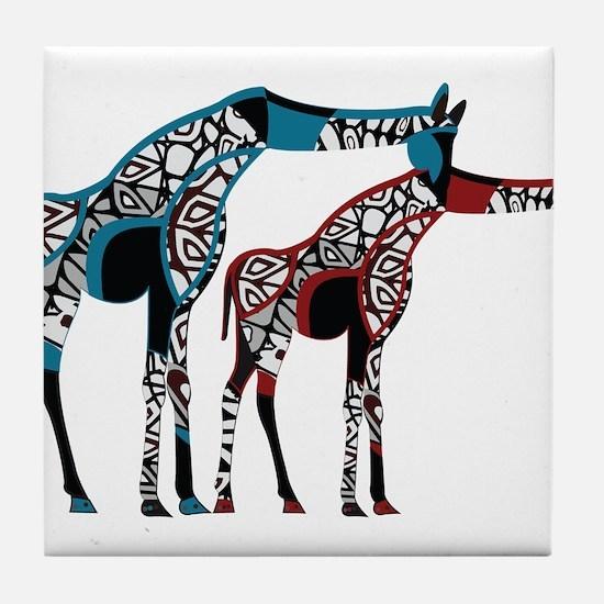 Abstract Giraffe Tile Coaster