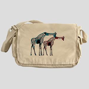 Abstract Giraffe Messenger Bag