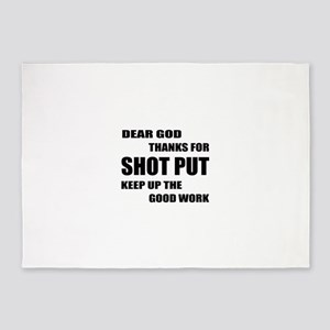 Dear god thanks for Shot Put Keep u 5'x7'Area Rug