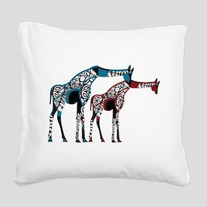 Abstract Giraffe Square Canvas Pillow