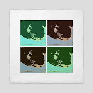 Pop Art Otter Queen Duvet