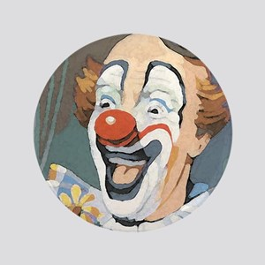 "Painted Clown 3.5"" Button"