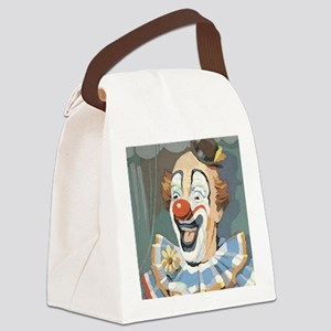 Painted Clown Canvas Lunch Bag