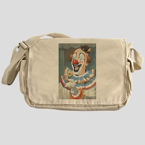 Painted Clown Messenger Bag