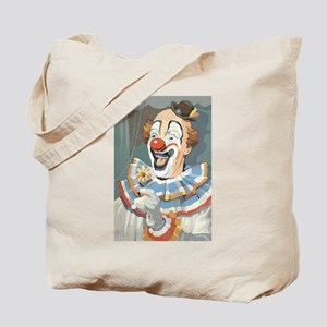 Painted Clown Tote Bag