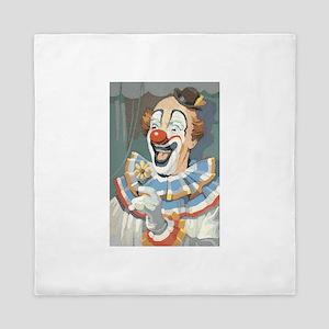 Painted Clown Queen Duvet
