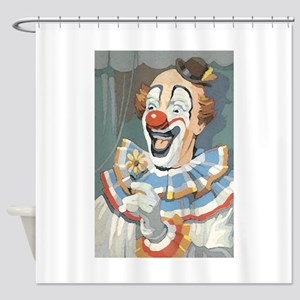 Painted Clown Shower Curtain