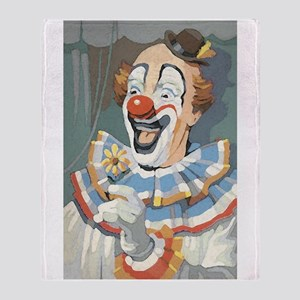 Painted Clown Throw Blanket
