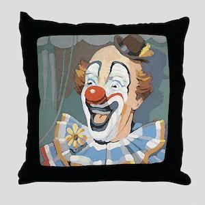 Painted Clown Throw Pillow