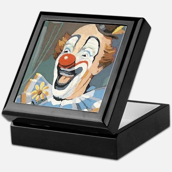 Painted Clown Keepsake Box
