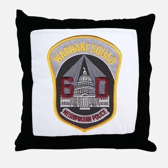 warrant.psd Throw Pillow