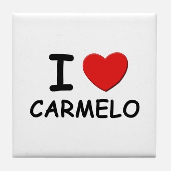 I love Carmelo Tile Coaster